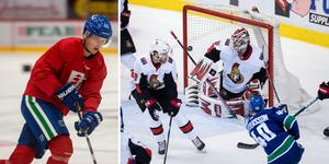 Elias Pettersson tränar just nu med Timrå IK, i vanliga fall huserar han i NHL-laget Vancouver Canucks. Foto: TT