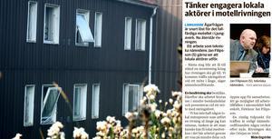 Ambitionen att få lokala entreprenörer att utföra rivningen av motellet i Ljungaverk nådde inte i mål.