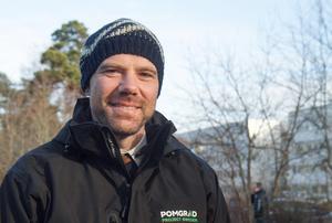 Boštjan Donša arbetar för Pomgrad, som bygger nya hyresrätter på uppdrag av Nynäshamnsbostäder.