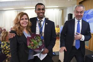 Liberalernas fd toppkandidat till EU-valet Cecilia Wikström, tillsammans med Said Abdu (också EU-kandidat) och den avgående partiledaren Jan Björklund.