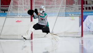 Kristian Marosi fick göra några räddningar i kvartsfinalen. Bild: Rikard Bäckman / Bandypuls.se / TT