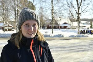 Frida Hedström, en av många som jobbar med sommarens Idre yra.