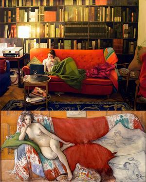 Den röda soffan 2, Karin Broos och Vila, Carl Larsson.