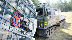 Bandvagnsförare som var på väg till Trängsletbranden tvingades vända eftersom de inte hade avtal med Trafikverket. Obs: Bilden på bandvagnen är tagen i ett annat sammanhang.