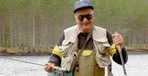 Flugfiskaren och tidigare muraren Gunnar Flink fyller 90 år på självaste Vasaloppssöndagen. Foto: Privat.