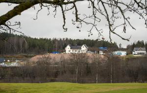Värstaborg, bilden tagen från golfbanan vid Skottsund.