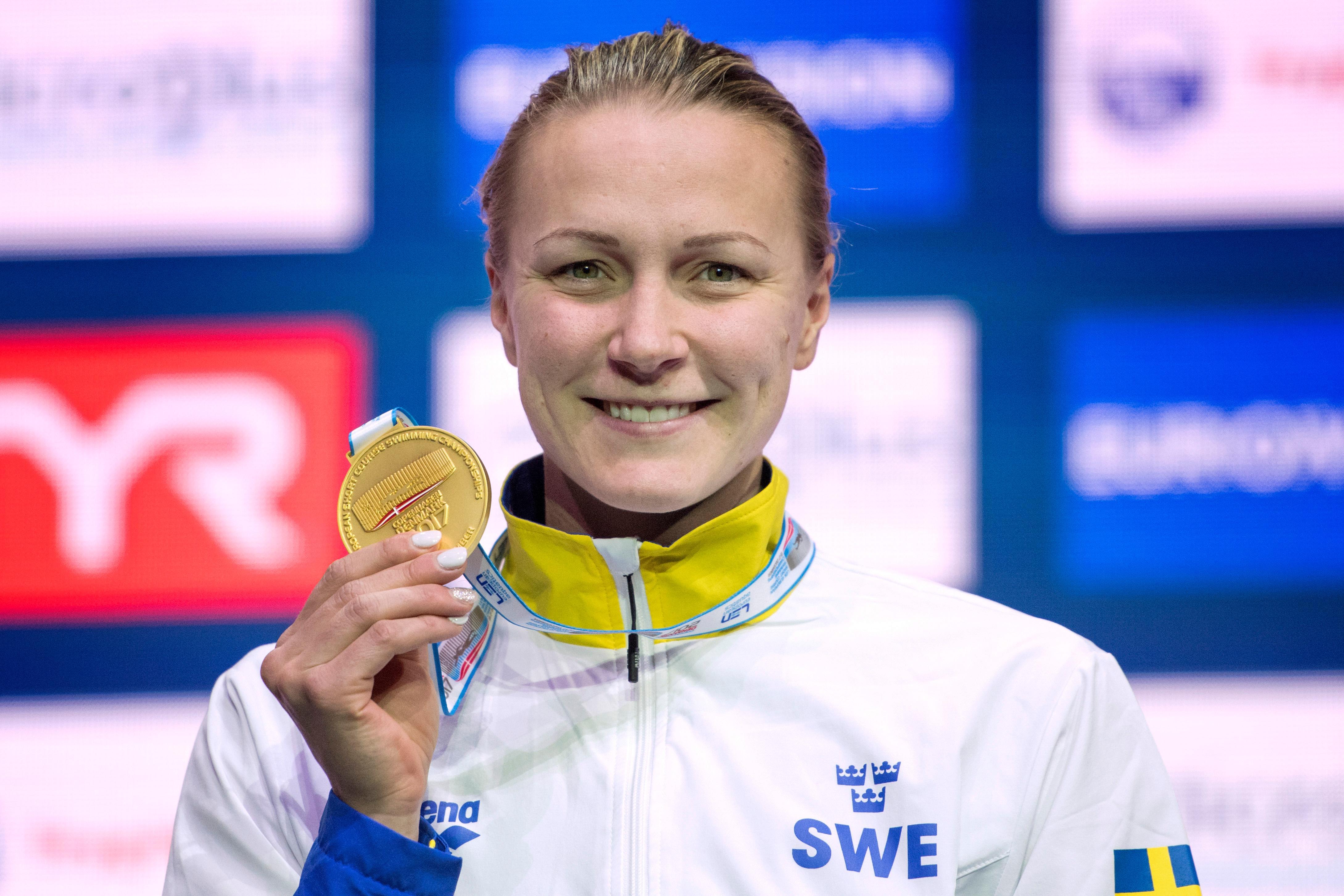 Sjostrom tog historisk medalj