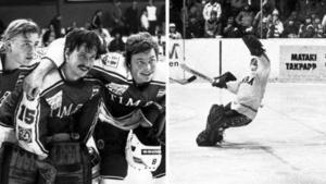 Tre Timrå-legendarer på samma bild (från 1981): Kjell Dahlin,