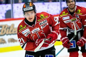 Linus Öberg får rookiekontrakt. Foto: Johan Bernström (Bildbyrån).