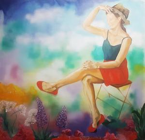 Konst av Maria Oscarsson Marle visas på Kretsen lördag 6 april.