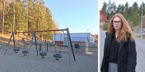 Angelica Helenelund tycker att Nynäshamns kommun kommer med otydliga svar och anger svepskäl när föräldrar i Segersäng ifrågasätter varför båda två modulhusen utanför förskolan ska tas bort.