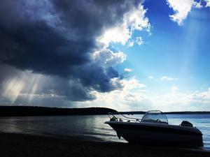 När vädret inte riktigt har bestämt sig... Foto: Johan Molander