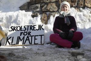Vi hoppas innerligt att vi tillåts delta i Thunbergs kamp, skriver SSU Örnsköldsvik, genom August Lundin och Emil Nordfjell. Foto: Markus Schreiber/TT