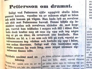 Elon Pettersson överlevde skottdramat, men avled dagen efter. I SA berättade han om det inträffade.