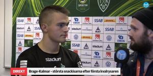 Benjamin Hjertstrand var självkritisk efter förlusten i kvalmatchen.
