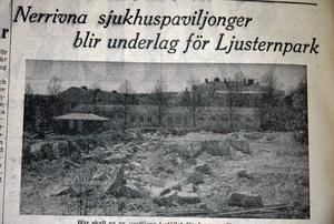 Fylldes igen. Dyhålet fylldes igen med sten från rivna vårdbyggnader på Säters sjukhus. De stod det att läsa om i Säters Tidning den 28 maj 1957.