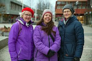 Delas av Kommittén för Södertäljeforskning som utgör juryn för det nyinstiftade priset. Från vänster: Kerstin Ekberg, Hanna, Gelotte Fernández och Pia Lillieborg.