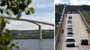 Skribenten tror snarare att det är rondellen på Alnösidan som är orsaken till många köer än Alnöbron i sig. Bilder: Hannes Holmström / Jan Olby