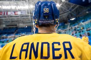 Anton Lander inför OS-premiären mot Norge. Bild: Petter Arvidson/Bildbyrån.