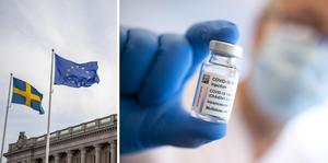 EU vidtar juridiska åtgärder mot Astra Zeneca med anledning av bristande vaccinleveranser. Arkivbilder.