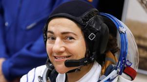 Bilden togs den 25 september i år strax före start för den 50 meter långa Soyuz FG-rymdfarkosten som tog Västeråsbördiga amerikanska astronauten och doktorn i marinbiologi Jessica Meir och hennes kolleger från kosmodromen i Baikonur på jorden till den internationella rymdstationen ISS i omloppsbana runt jorden.