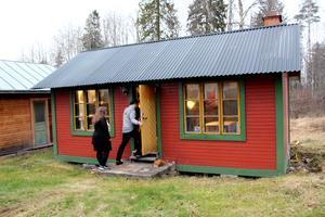 Gårdshuset mitt emot skolan var från början en slöjdsal.