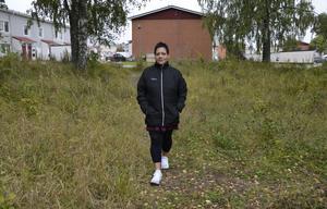 Catrin Edström bor i området och vill ha fler hyresrätter.
