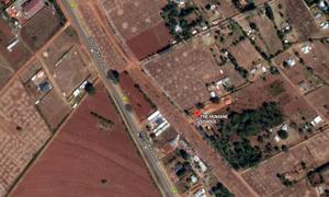 The Humane school ligger inte långt från Kitale i västra Kenya. Bild: Google maps.