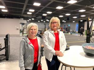 Monika Anande, styrelseordförande för Friskis och Svettis i Västerås och verksamhetschefen Marie Johansson var både glada och spända inför starten.