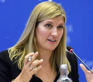 Beatrice Fihn, chef för organisationen ICAN. Foto: Läsarbild