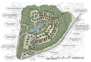 Området Engeshöjden kan börja byggas redan i år, området har redan en antagen detaljplan. Företaget Trivselhus har vunnit markanvisningen. Illustration: Gävle kommun