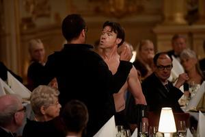Foto: Vilhelm Stokstad / TT  Skådespelarna Dominic West och Terry Notary  i