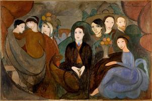 I den här målningen från 1909 porträtterar Marie Laurencin  sina berömda vänner Gertrude Stein, Fernande Olivier, Guillaume Apollinaire, Pablo Picasso, Marguerite Gillot, Maurice Cremnitz och sig själv.