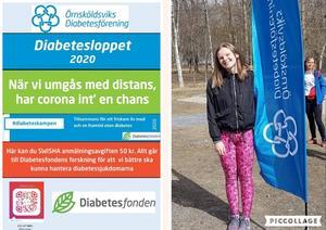 Anna Lundgren (på bilden) som tillsammans med Michelle Grundström startade Diabetesloppet som ett gymnasiearbete 2015 samt 2016 . Nu sex år senare är det ett årligen återkommande evenemang för Örnsköldsviks Diabetesförening . Foto: Anna Forsberg