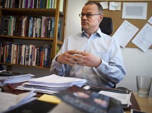 Tage Alalehto, expert på ekonomisk brottslighet och docent i sociologi vid Umeå Universitet. Foto: Henrik Karmehag/VK.