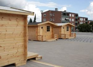 I dag öppnas valstugorna på torget i Timrå.