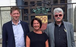 Falun regeras idag av C, S och MP, här kommunalråden Joakim Storck, Susanne Norberg och Erik Eriksson. MP:s  inflytande har varit alldeles för stort, bland annat i trafikpolitiken.