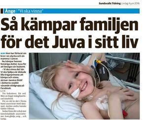 Artikel i Sundsvalls Tidning den 4 juni 2016.