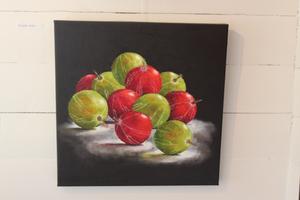 Krusbär, olja av Lena Frykholm