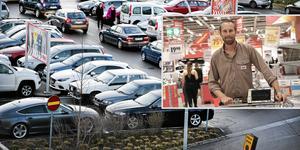 Patrik Persson, vd Ica Maxi Universitetet, är ganska nöjd med kommunens trafiklösning.