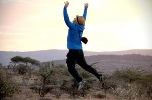 Soluppgången på Mount Kenya gav ett glädjehopp.