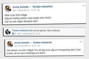 Ett axplock av kommentarerna riktade mot Roland Bäckman (S).