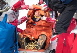 Foto: Bildbyrån   Den otäcka smällen gav en blödning i käken, några trasiga tänder och en hjärnskakning.