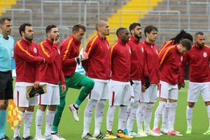 Galatasarays lag på Jämtkrafts konstrgräs.