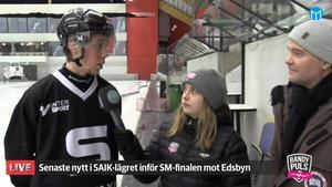 Hannes Edlund i Bandypuls livesändning.