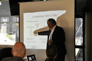 Johan Nikula under GIF Sundsvalls möte med sponsorerna.
