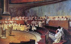 Cicero håller tal. Fresk av Cesare Maccari från 1889.