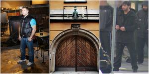 Ett par veckor efter Khouris (till höger i bild) uttalande om att sopa bort Jakob Moussa (till vänster) skedde dubbelmordet på spelklubben Oasen i Ronna centrum, den 1 juli 2010. Foto: Arkivbilder och bild ur förundersökning.