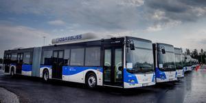 Bussar med egna gräddfiler kan bli verklighet i Örebro, BRT kallas systemet som regionen och kommunen nu vill införa. Arkivfoto