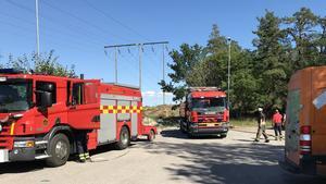 Brandkåren fick larmet vid 15-tiden på söndagen.